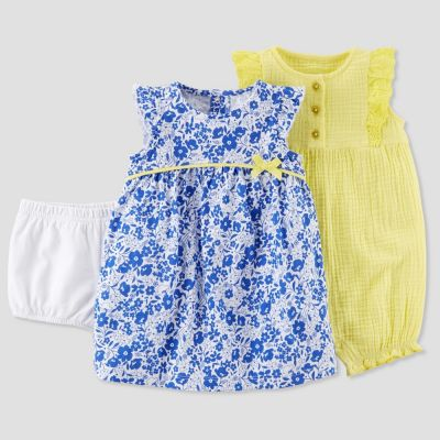 eb810e095 Baby Girls  2pk Floral Dress and Romper Set - Just One You made by ...