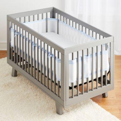Home / Furniture / Baby U0026 Toddler Furniture / Crib U0026 Toddler Bed  Accessories / Crib Bumpers U0026 Liners / BreathableBaby Mesh Crib Liner U2013  Seersucker Blue, ...