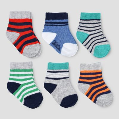 3c3d53ce9 Baby Boys  6pk Ankle Toe Pop Socks - Just One You made by carter s ...